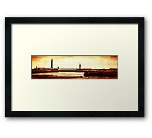 Whitby Lighthouses Framed Print