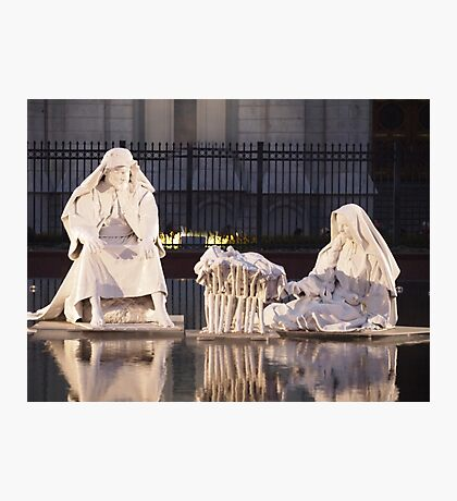 Nativity Scene - Salt Lake City Temple Grounds Photographic Print
