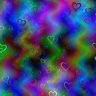 Abstract hearts by Maria Tzamtzi