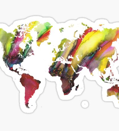 Colored world map Sticker