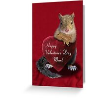 Valentine's Day Squirrel Greeting Card