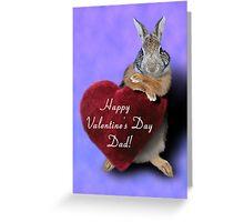 Valentine's Bunny Rabbit Greeting Card