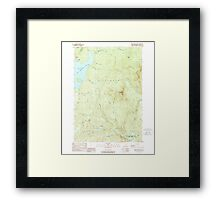 USGS TOPO Map New Hampshire NH Magalloway Mtn 329644 1989 24000 Framed Print