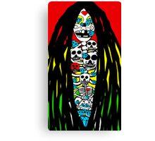 Rasta Skeletons Canvas Print