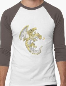 Leopard Gecko Dragon! Men's Baseball ¾ T-Shirt