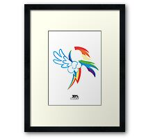 The Dash mark - WHITE Framed Print