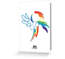 The Dash mark - WHITE Greeting Card