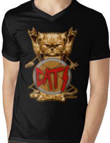 slayer cat Mens V-Neck T-Shirt