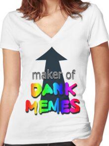 Meme Master Women's Fitted V-Neck T-Shirt