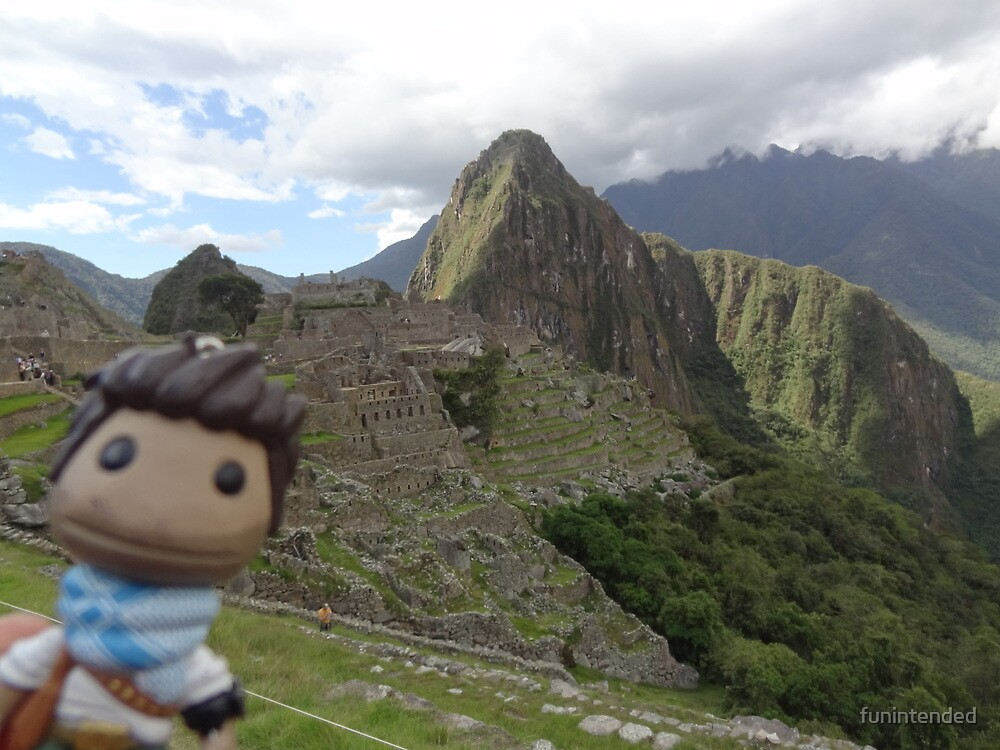 Drake Sackboy at Machu Picchu by funintended