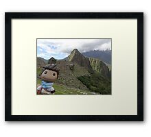 Drake Sackboy at Machu Picchu Framed Print
