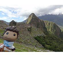 Drake Sackboy at Machu Picchu Photographic Print