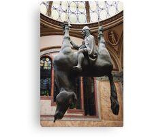 St. Wenceslas Riding A Dead Horse Canvas Print