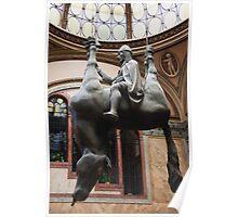St. Wenceslas Riding A Dead Horse Poster