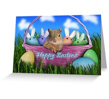 Easter Squirrel Greeting Card