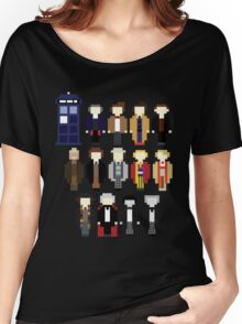 Pixel Doctor Who Regenerations Women's Relaxed Fit T-Shirt