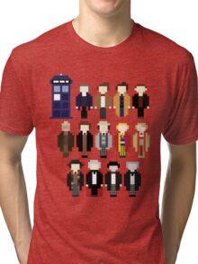Pixel Doctor Who Regenerations Tri-blend T-Shirt