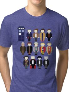 Pixel Doctor Who Regenerations Tri-blend T-Shirt