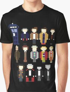 Pixel Doctor Who Regenerations Graphic T-Shirt