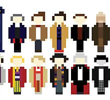 Pixel Doctor Who Regenerations by ObscureM
