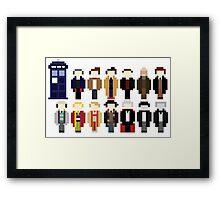 Pixel Doctor Who Regenerations Framed Print