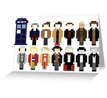 Pixel Doctor Who Regenerations Greeting Card