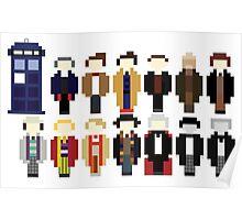 Pixel Doctor Who Regenerations Poster