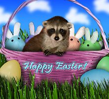Easter Raccoon by jkartlife