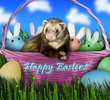 Easter Ferret by jkartlife