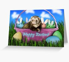 Easter Ferret Greeting Card
