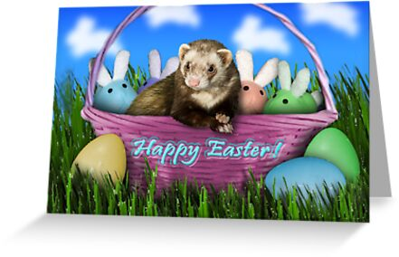 Easter Ferret by jkartlife