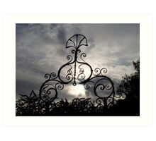 Ironwork Decoration Avebury, UK Art Print