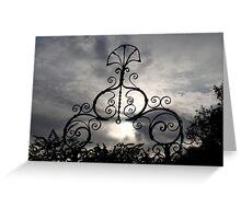 Ironwork Decoration Avebury, UK Greeting Card