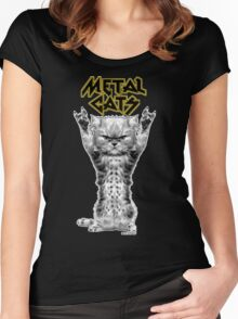 metal cats Women's Fitted Scoop T-Shirt