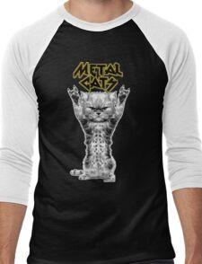 metal cats Men's Baseball ¾ T-Shirt