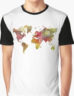 Map of the world colored cube Graphic T-Shirt