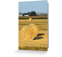 Hay Bales of the Midwest Greeting Card