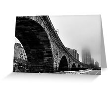 History in a Stone Arch bridge Greeting Card