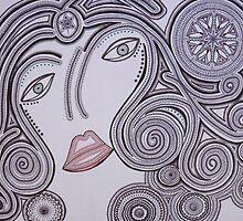 The Goddess of Wisdom by alchemiart