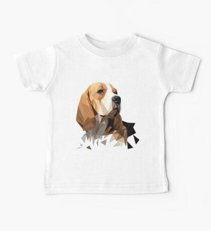 Beagle Hunting Dog Head Baby Tee