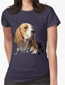 Beagle Hunting Dog Head Womens Fitted T-Shirt