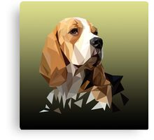 Beagle Hunting Dog Head Canvas Print