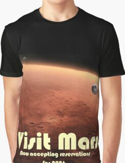 Mars Travel Poster - Now Accepting Reservations Graphic T-Shirt