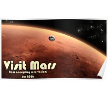 Mars Travel Poster - Now Accepting Reservations Poster
