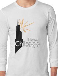 I Love Chicago Long Sleeve T-Shirt