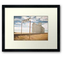 Lothair, Montana Framed Print