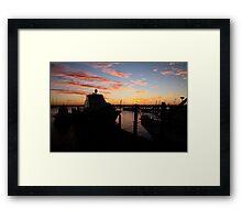 Fremantle Yacht Club Sunset Framed Print