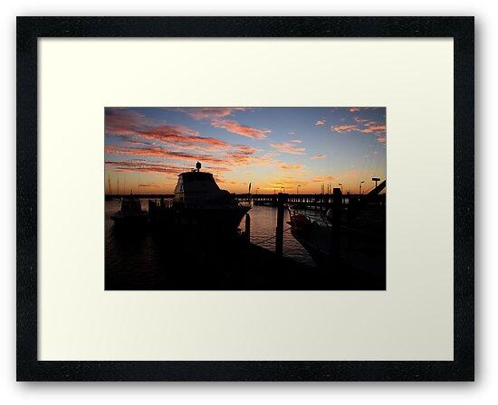 Fremantle Yacht Club Sunset by Noel Elliot