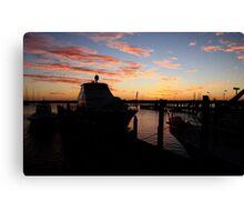 Fremantle Yacht Club Sunset Canvas Print