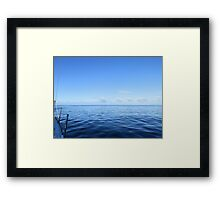 view of sailing clouds from aboard  Framed Print